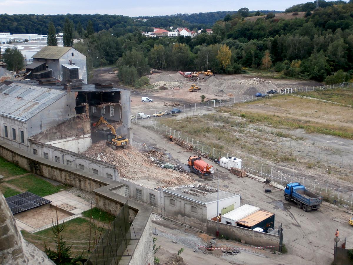 Demolice  Lihovaru Mladá Boleslav