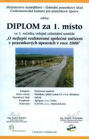 Pozemkové úpravy: 1. místo - 2008