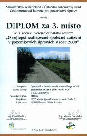 Pozemkové úpravy: 3. místo - 2008